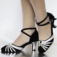 Customizable Women's Dance Shoes Latin/Standard Shoes Suede/Leatherette Customized Heel Black