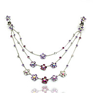 Fashion Flower Alloy Foreign Trade Hair Chain(White,Red,Purple,Blue)(1Pc)
