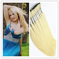 "3Pcs/Lot Human Virgin Hair Bulk 14""-32"" Virgin 100% Peruvian Nature Hair Bulk Raw Hair Bulk Blonde 613# Silky Straight"