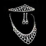 2015The new bride crown necklace earrings three classic retro luxury diamond jewelry wedding jewelryTM-SET0030