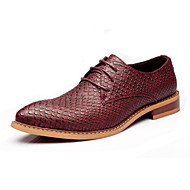 Men's Shoes Office & Career/Party & Evening/Casual Leather Oxfords Black/Burgundy