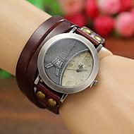 Women's Watches Vintage Digital Eiffel Tower Leather Quartz Bracelets Watches Cool Watches Unique Watches Strap Watch
