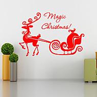 벽 스티커 벽 데칼 스타일 크리스마스 사슴 PVC 벽 스티커