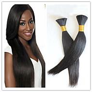 3Pcs/Lot Silky Straight Human Braiding Hair Bulk Straight Bulk Hair For Braiding Brazilian Virgin Bulk Hair Extensions