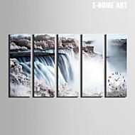직사각형 레트로 벽 시계 , 기타 캔버스 24x70cm(9inchx28inch)x5pcs/30x90cm(12inchx35inch)x5pcs