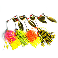 "4pcs pcs Iscos Rotativos / Iscas Iscas Buzzbait & Spinnerbait Others 14.8g g/1/2 Onça mm/2-3/4"" polegada,Metal / Plástico Duro / Silicone"