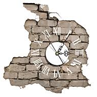 pag®modern Design 3D-Effekt Ziegelsteinmuster clock Aufkleber 14.79 * 15.43 in