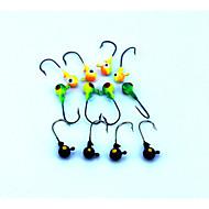 "16pcs יח ' קרסי הקפצה (Jigs) / פיתיון מתכת / Jig Head צבעים אקראיים 3.5G g/1/8 אונקיה,35 mm/1-3/8"" אינץ ',מתכת / פלסטיק קשיח / עופרתדיג"