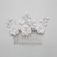 Women's/Flower Girl's Crystal/Alloy/Imitation Pearl Headpiece - Wedding Hair Combs 1 Piece