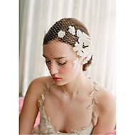 Women's Rhinestone/Imitation Pearl/Polyester/Net Headpiece - Wedding/Special Occasion Birdcage Veils 1 Piece