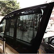1 par sorte bilen solseil gardin sugekopp uv beskyttelse side vindu gardin