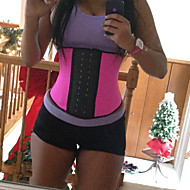 Women's Waist training Corset Underbust Shapers Rubber Steel Bones Plus Size Black/ Blue/ Purple/ Hot Pink C732