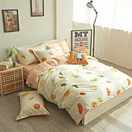 Shuian®100% Cotton Reactive Printing 4pcs Bedding Set Bedsheet Duvet Cover Pillowcase Home Textile Bed Clothes
