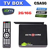CSA90 Andriod 5.1 Smart TV Box Octa Core RK3368 2G+16G 4K HDMI 2.0 with Remote Control