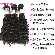 """4pcs beaucoup 8 """"-30"""" péruvien cheveux vierges profonde vague naturelle noirs bouclés faisceaux de tissage de cheveux humains"""