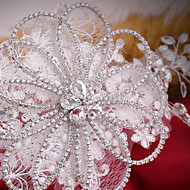 Bergkristal Vrouwen Helm Bruiloft/Speciale gelegenheden Bloemen Bruiloft/Speciale gelegenheden 1 Stuk