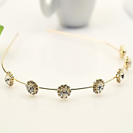 Corée du Sud importées strass en épingle à cheveux la tête de perles décorations cerceau de cristal de tournesol bande de cheveux