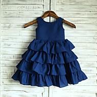 Princess Knee-length Flower Girl Dress - Taffeta Sleeveless Scoop with