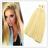 """3pcs / lot brésilien en vrac de cheveux vierges droite # 613 blondes cheveux humains 14-32 extensions """"humains brésiliens vierges en vrac"""