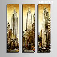 e-Home® venytetty kankaalle art korkeita rakennuksia kaupungin arvokohteisiin maalaus sarja 3