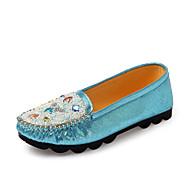 Women's Shoes Fabric Flat Heel Platform/Comfort/Round Toe/Open Toe Flats Outdoor/Office & Career/Casual Blue/Pink/Gold