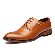 Men's Shoes Office & Career/Party & Evening/Casual Leather Oxfords Black/Brown