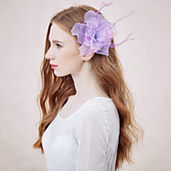 Women's Feather/Rhinestone/Net Headpiece - Wedding/Special Occasion/Casual Flowers 1 Piece
