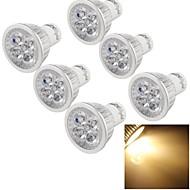 4W GU10 Spot LED A50 4 LED Haute Puissance 400 lm Blanc Chaud Gradable / Décorative AC 110-130 V 6 pièces
