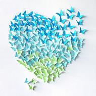 20pcs 3d sommerfugl wall stickers Vægoverføringsbilleder bryllup dekoration