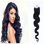 "1pc / ""גלי הרבה 20 0.5-1g S / ברזילאי בתולת שיער לולאות שיער שפיכת extensiones החופשי del מלון פלה humano"