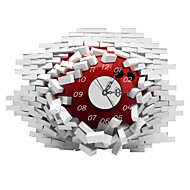 PAG®Modern Design 3D Effect Clock with Sticker 20.78*14.96 in