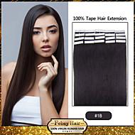 20pcs 1.5-2g/pc 16-24inch Brazilian Virgin Tape Human Hair Extension #1b Tape In Human Hair Extensions 005