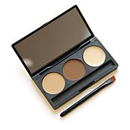 kosmetické make-up kit 3 barvy obočí prášek oko obočí paleta štětcem zrcadlem