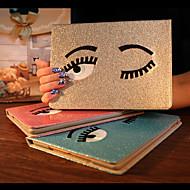 affascinante grandi occhi pu copertura custodia protettiva con il basamento per ipad mini 1/2 mini / mini 3 (colori assortiti)