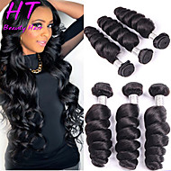 "3 Pcs/Lot 8""-26"" Brazilian Virgin Hair Loose Wave Human Hair Extensions Unprocessed Brazilian Hair Weaves Hot Sale"