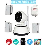 WIFI Video Baby Monitor Security IP Camera HD For Old Kids Safety With Wireless Door Window Open Burglar Alarm Sensor