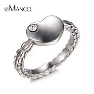 Classic Party and Work Lovely Heart style silver color rings silver pated rings