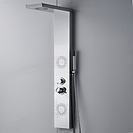 Duscharmaturen - Zeitgenössisch - Regendusche / Seitendüse / Handdusche inklusive - Edelstahl ( Chrom )
