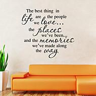 벽 스티커 벽 데칼 스타일의 새로운 최고의 생활 영어 단어&PVC 벽에 스티커를 인용
