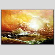 Kézzel festett Absztrakt tájképModern / Európai stílus Egy elem Vászon Hang festett olajfestmény For lakberendezési