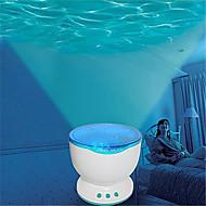 hry® ha condotto la luce di notte del proiettore oceano lampada blu onde del mare di proiezione con mini altoparlante