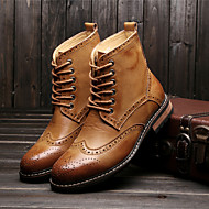 Men's Shoes Outdoor / Office & Career / Casual Leather Boots Black / Yellow