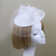Women's Satin/Feather/Net Headpiece - Wedding/Party Birdcage Veils 1 Piece