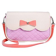 Women Other Leather Type Hobo Shoulder Bag - White / Pink / Red