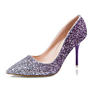 Magassarkú / Hegyes orrú / Csukott orrú - Stiletto - Női cipő - Magassarkú - Ruha - Glitter - Kék / Lila / Piros / Arany