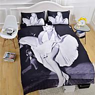 funda de edredón Marilyn Monroe establecer el lecho blanco y negro ajustado reina completa gemelo