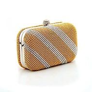 L.WEST® Women's Luxury Diamonds Twill Party/Evening Bag