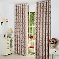 European Two Panels Polka Dots  Living Room Poly  Cotton Blend Panel Curtains Drapes