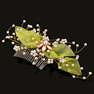 Women's Pearl/Tulle Headpiece - Wedding/Special Occasion Hair Combs 1 Piece