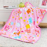 Pink Cartoon Carebears Coral Fleece Blankets